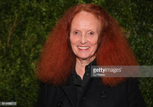 Grace Coddington attends the 'Franca Chaos and Creation' New York Screening at Metrograph on October 13 2016 in New York City
