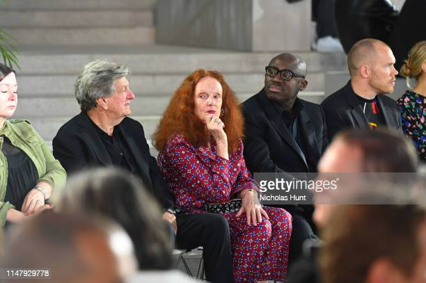 Grace Coddington attends the Louis Vuitton Cruise 2020 Fashion Show at JFK Airport on May 08, 2019 in New York City.