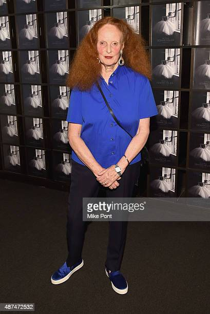 Grace Coddington attends the 'Patrick Demarchelier' special exhibition preview to celebrate NYFW The Shows for Spring 2016 at Christie's on September...