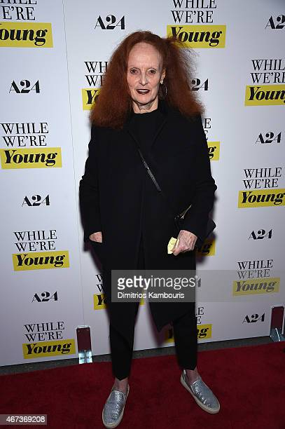 Grace Coddington attends the 'While We're Young' New York Premiere at Paris Theater on March 23 2015 in New York City