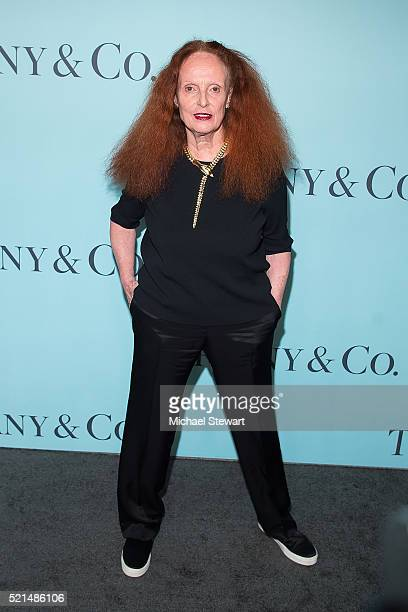 Grace Coddington attends Tiffany Co Celebrates the 2016 Blue Book at The Cunard Building on April 15 2016 in New York City