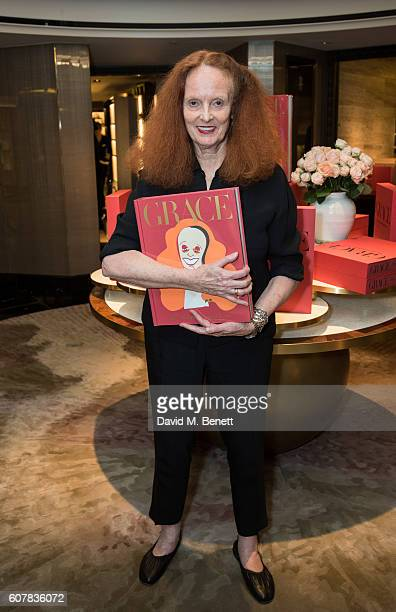Grace Coddington signs her new Phaidon book 'The American Vogue Years' at Harrods on September 19 2016 in London England