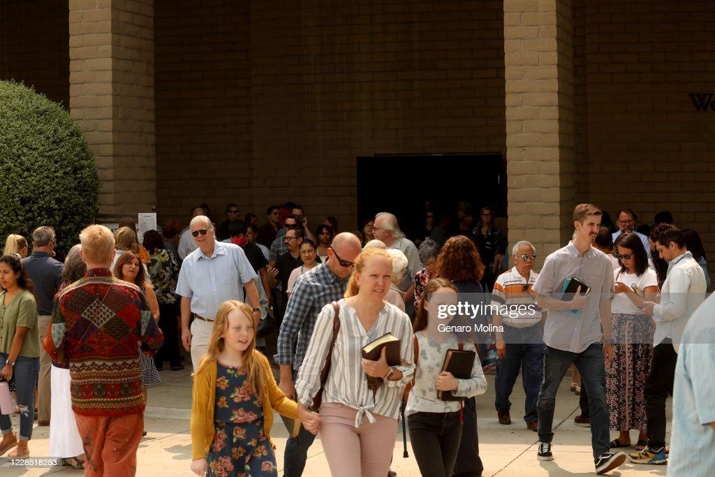 Churchgoers defy judges orders not to gather - during the Coronavirus pandemic : News Photo