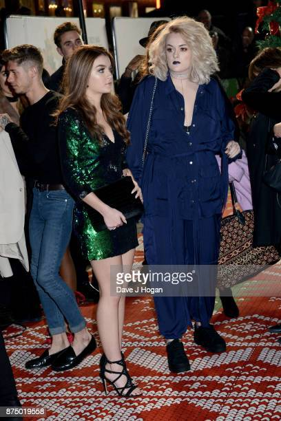 Grace Davies and Holly Tandy arrive at the UK Premiere of 'Daddy's Home 2' at Vue West End on November 16 2017 in London England