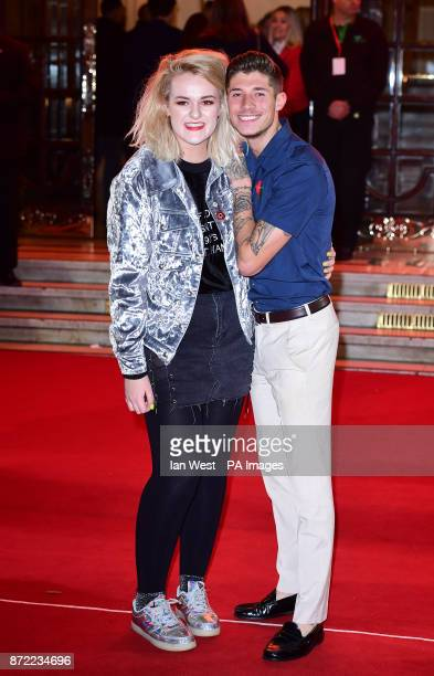 Grace Davies and Sam Black attending the ITV Gala held at the London Palladium Picture date Thursday November 9 2017 See PA story SHOWBIZ ITV Photo...
