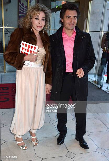 Grace de Capitani and a guest attend the 18th Gala 'Musique Contre L'Oubli' in Benefit of Amnesty International 2012 at the Theatre du Chatelet...