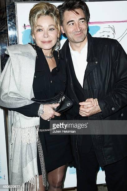 Grace de Capitani and guest attend the 'Gala de l'Espoir' hosts by the Ligue Contre Le Cancer at Theatre des ChampsElysees on November 19 2013 in...