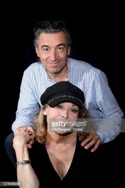 Grace de Capitani and her husband JeanPierre Jacquin pose during a portrait session in Paris France on