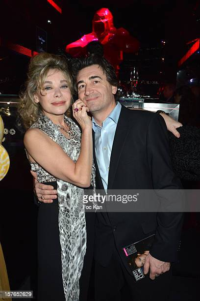 Grace de Capitani and Jean Pierre Jacquin attend the Jeweler Edouard Nahum 'Maya' New Collection Launch Party at La Gioia on December 4 2012 in Paris...