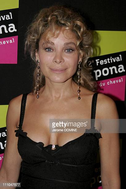 Grace de Capitani at the 12th EPONA Festival film festival of the horse on television in Cabourg France On October 08th 2005