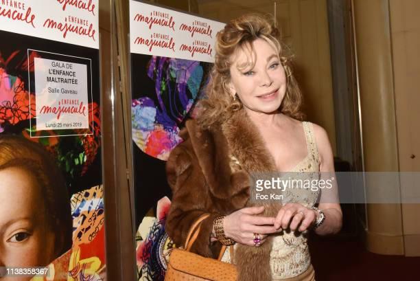 Grace de Capitani attends Enfance Majuscule Auction Concert Cocktail at Salle Gaveau on March 25 2019 in Paris France