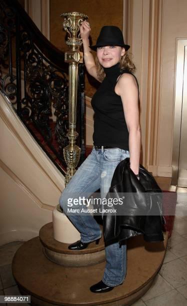 Grace de Capitani attends 'Les Salvadors de La Petanque' Press Conference at Hotel Normandy on May 6 2010 in Paris France