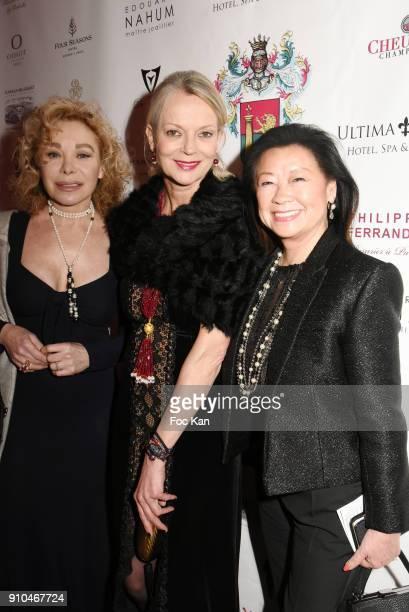 Grace de capitani Helene de Yougoslavie and Jeanne D'Hauteserre attend the 41st The Best Award Ceremony in Paris Paris Fashion Week Haute Couture...