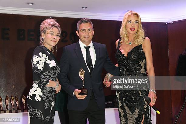 Grace de Capitani Richard Virenque and Valeria Marini attend the Best Awards 2013 Ceremony At Hoche Salons In Paris on December 16 2013 in Paris...