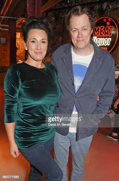 Grace Dent and Tom Parker Bowles attend the MEATliquor party for the Evening Standard's London Food Month on June 4 2017 in London England