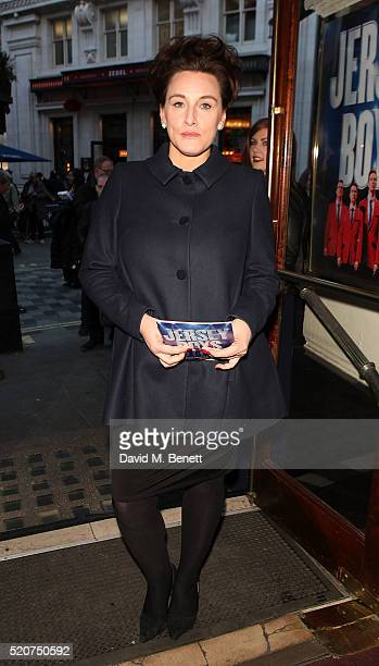 Grace Dent arrives at the 8th anniversary gala performance of Jersey Boys at the Piccadilly Theatre on April 12 2016 in London England