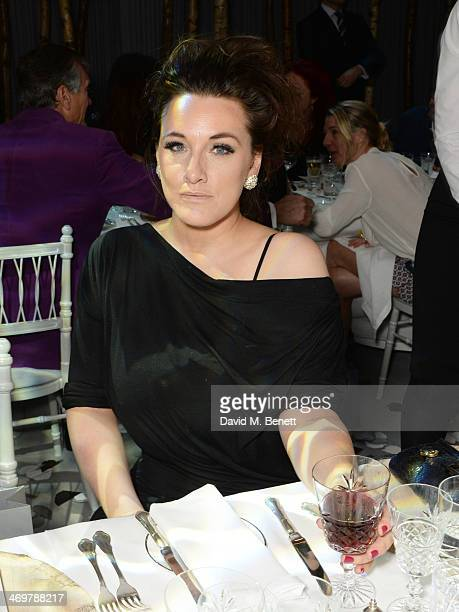 Grace Dent attends the Mulberry dinner to celebrate the launch of the Cara Delevingne Collection at Claridge's Hotel on February 16 2014 in London...