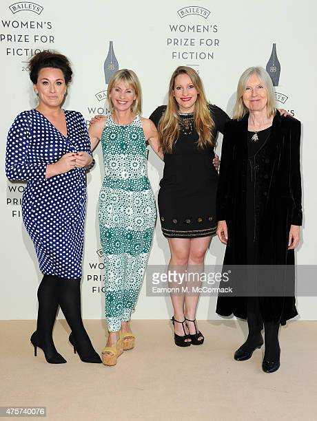 Grace Dent Kate Mosse Laura Bates and Helen Dunmore arrive to celebrate the 2015 Baileys Women's Prize for Fiction at London's Royal Festival Hall on...