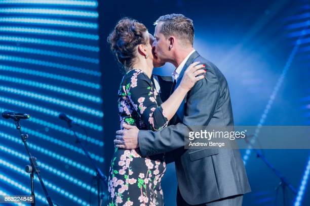 Grace Dent presents and award at the Audio Radio Industry Awards at First Direct Arena Leeds on October 19 2017 in Leeds England