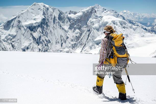 CONTENT] Grace descends to Camp 3 on Spantik after an a route finding scouting mission Pakistan mountaineering expedition