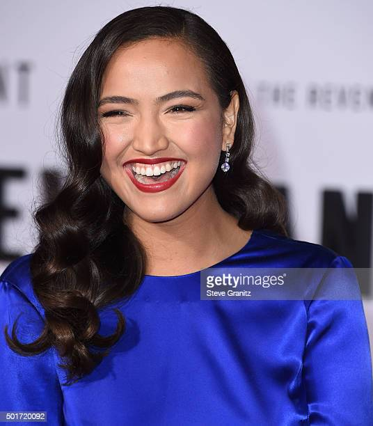 Grace Dove arrives at the Premiere Of 20th Century Fox And Regency Enterprises' 'The Revenant' at TCL Chinese Theatre on December 16 2015 in...