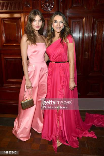 Grace Elizabeth and Elizabeth Hurley attemd the Hot Pink Party hosted by the Breast Cancer Research Foundation at Park Avenue Armory on May 15 2019...