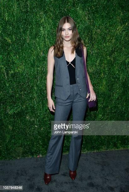 Grace Elizabeth attends FDA / Vogue Fashion Fund 15th Anniversary event at Brooklyn Navy Yard on November 5 2018 in Brooklyn New York