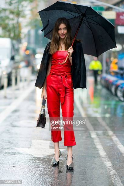 Grace Elizabeth attends fittings for the 2018 Victoria's Secret Fashion Show in Midtown on November 6 2018 in New York City