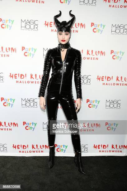 Grace Elizabeth attends Heidi Klum's 18th Annual Halloween Party at Magic Hour Rooftop Bar Lounge on October 31 2017 in New York City