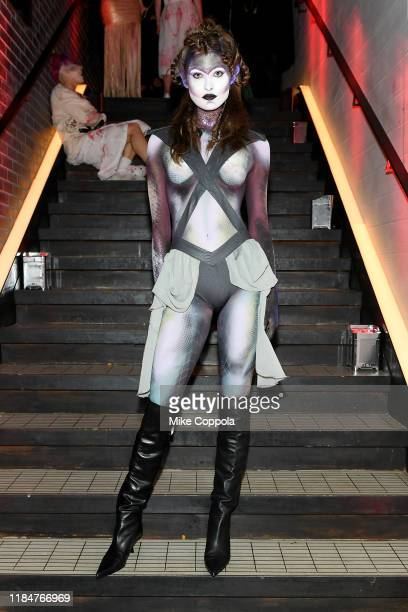 Grace Elizabeth attends Heidi Klum's 20th Annual Halloween Party presented by Amazon Prime Video and SVEDKA Vodka at Cathédrale New York on October...