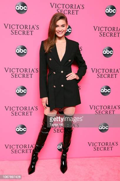 Grace Elizabeth attends the 2018 Victoria's Secret Fashion Show Viewing Party at Spring Studios on December 2 2018 in New York City
