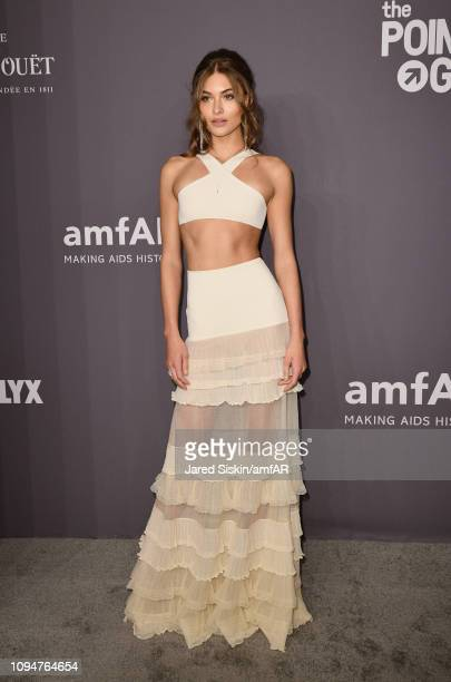Grace Elizabeth attends the amfAR New York Gala 2019 at Cipriani Wall Street on February 6 2019 in New York City