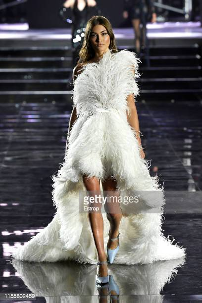 Grace Elizabeth walks the CR Runway x LuisaViaRoma at Piazzale Michelangelo during the Pitti Immagine Uomo 96 on June 13 2019 in Florence Italy