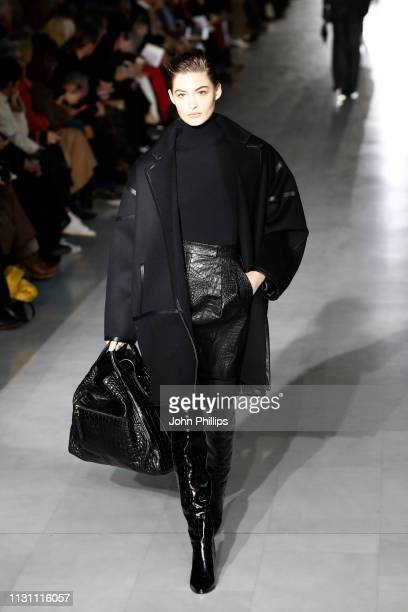 Grace Elizabeth walks the runway at the Max Mara show at Milan Fashion Week Autumn/Winter 2019/20 on February 21 2019 in Milan Italy