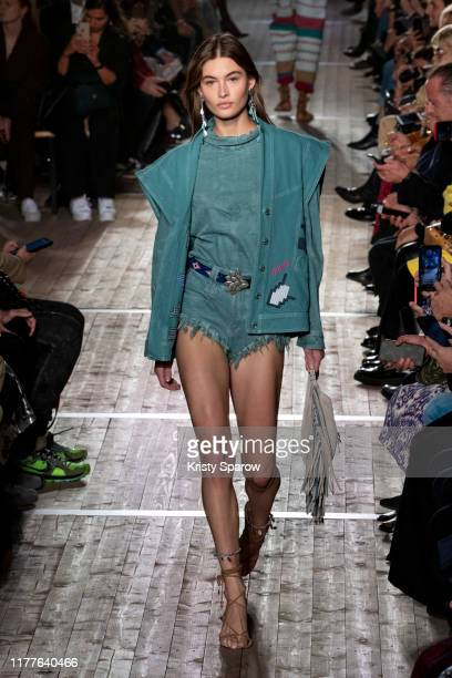 Grace Elizabeth walks the runway during the Isabel Marant Womenswear Spring/Summer 2020 show as part of Paris Fashion Week on September 26 2019 in...