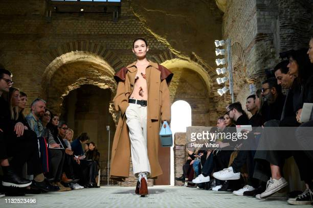 Grace Elizabeth walks the runway during the Lanvin show as part of the Paris Fashion Week Womenswear Fall/Winter 2019/2020 on February 27 2019 in...