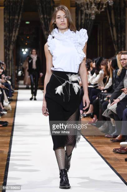 Grace Elizabeth walks the runway during the Lanvin show as part of the Paris Fashion Week Womenswear Fall/Winter 2017/2018 on March 1 2017 in Paris...