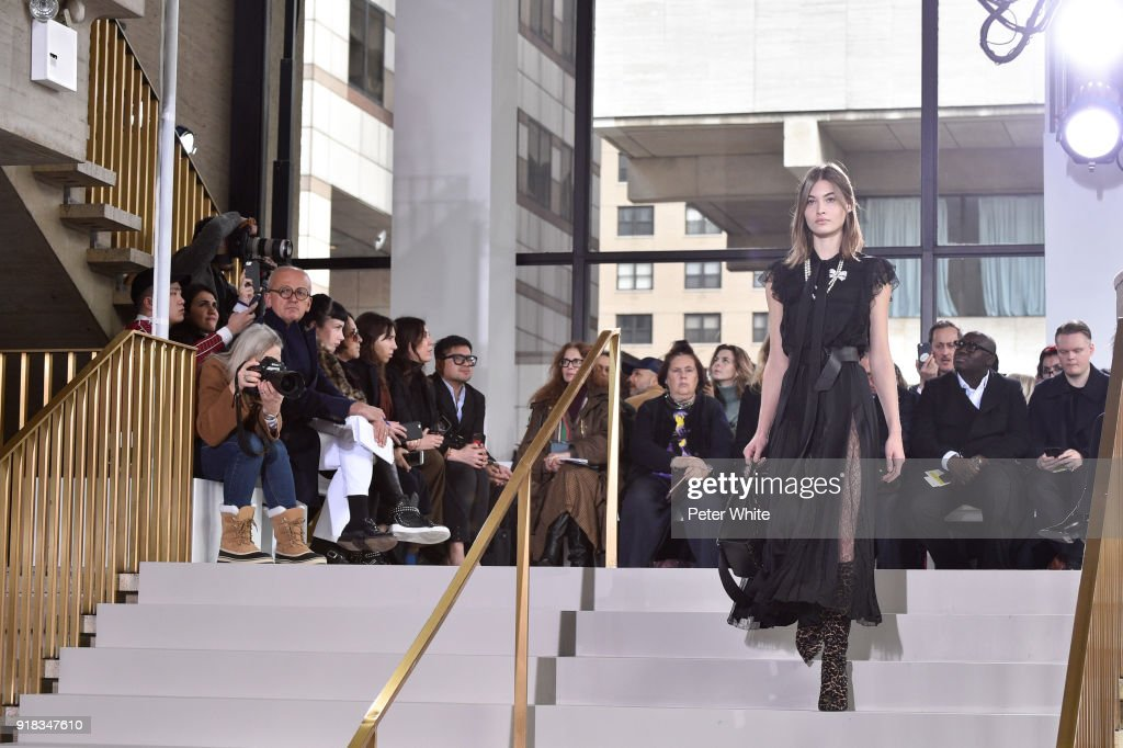 Grace Elizabeth walks the runway during the Michael Kors Collection Fall 2018 Runway Show at Vivian Beaumont Theatre at Lincoln Center on February 14, 2018 in New York City.