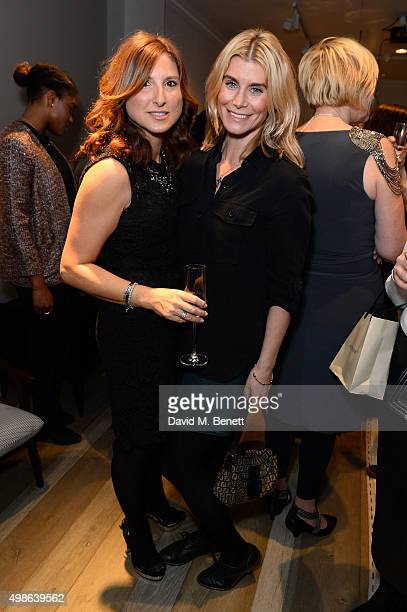 Grace Fodor and Kim Tiddy attend a champagne reception for 'Look Good Feel Better' supporting women with cancer at the Baxter London on November 24...