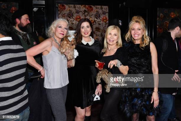 Grace Forester Stephanie Mattera Gina Kravitz and Leesa Rowland attend Leesa Rowland's Animal Ashram PopUp Penthouse on February 7 2018 in New York...