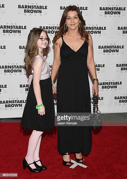 Grace Frances Penner and Gretchen Wilson attend the Barnstable Brown Party Celebrating The 135th Kentucky Derby at Barnstable Brown House on May 1...