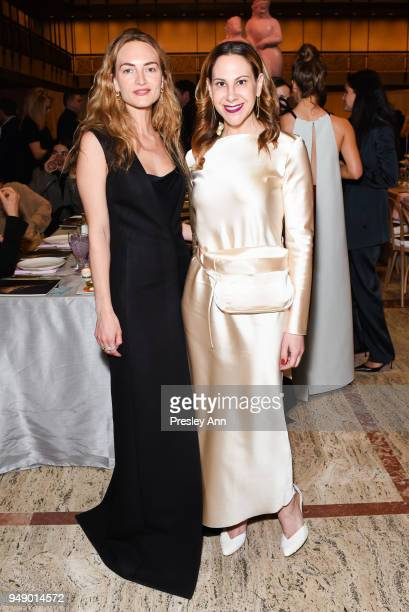 Grace Fuller and Alyson Cafiero attend YAGP Stars of Today Meet The Stars of Tomorrow 2018 Gala on April 19 2018 in New York City