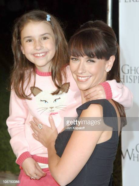 Grace Fulton and Jennifer Love Hewitt during Ghost Whisperer and Threshold Premiere Screenings at The Hollywood Forever Cementary in Hollywood...