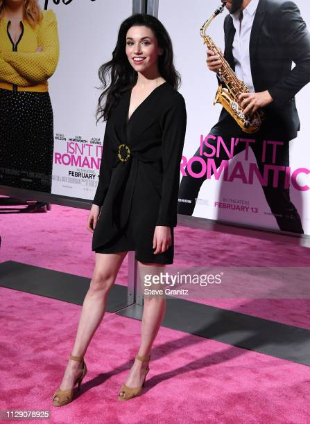 Grace Fulton arrives at the Premiere Of Warner Bros Pictures' Isn't It Romantic at The Theatre at Ace Hotel on February 11 2019 in Los Angeles...