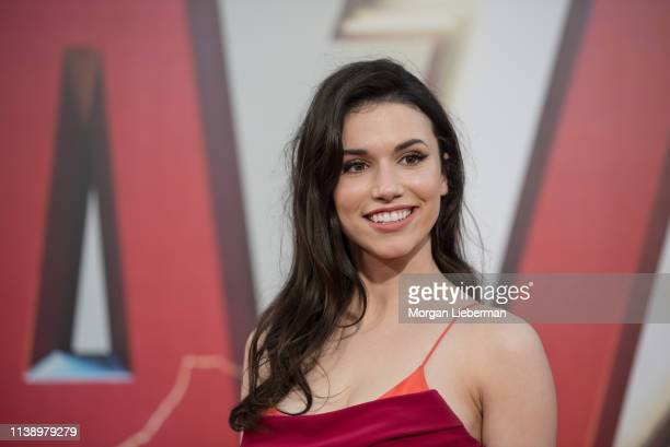 Grace Fulton arrives at Warner Bros Pictures and New Line Cinema's world premiere of SHAZAM at TCL Chinese Theatre on March 28 2019 in Hollywood...