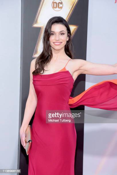 Grace Fulton attends the Warner Bros Pictures And New Line Cinema's World Premiere Of SHAZAM at TCL Chinese Theatre on March 28 2019 in Hollywood...
