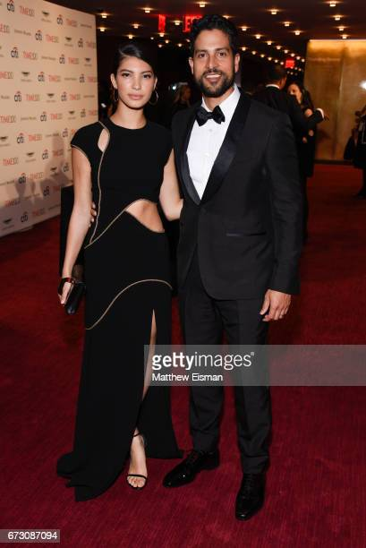 Grace Gail and actor Adam Rodriguez attend 2017 Time 100 Gala at Frederick P Rose Hall Jazz at Lincoln Center on April 25 2017 in New York City