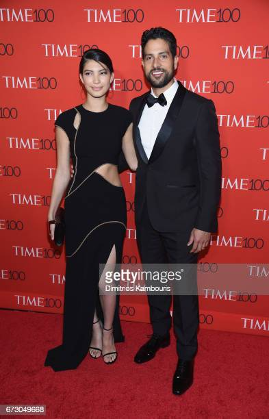Grace Gail and actor Adam Rodriguez attend the 2017 Time 100 Gala at Jazz at Lincoln Center on April 25 2017 in New York City