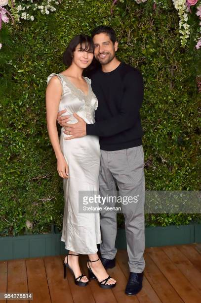 Grace Gail Rodriguez and Adam Rodriguez attend Claiborne Swanson Frank Mother and Child Launch Event By Cle de Peau Beaute and Carolina Herrera at...