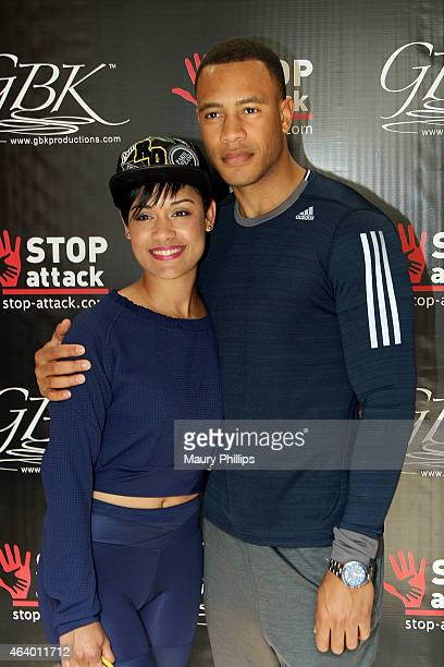 Grace Gealey and Trai Byers attend GBK 2015 PreOscar Awards luxury gift lounge on February 20 2015 in Los Angeles California